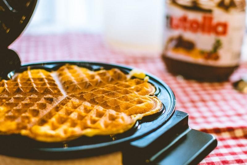 Nutella Heart Shaped Waffles