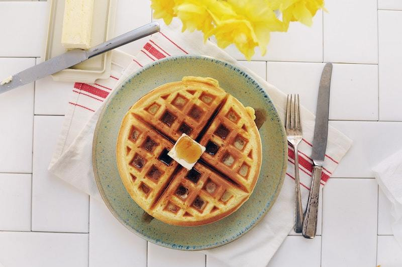 yummy flip Belgian double waffles