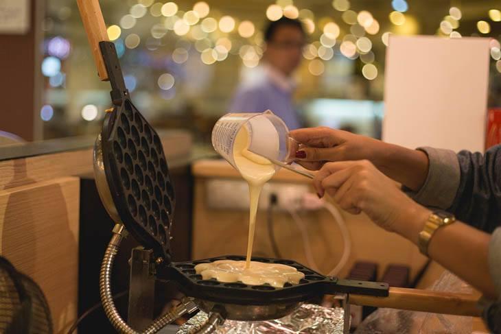 Waffle Batter And Iron