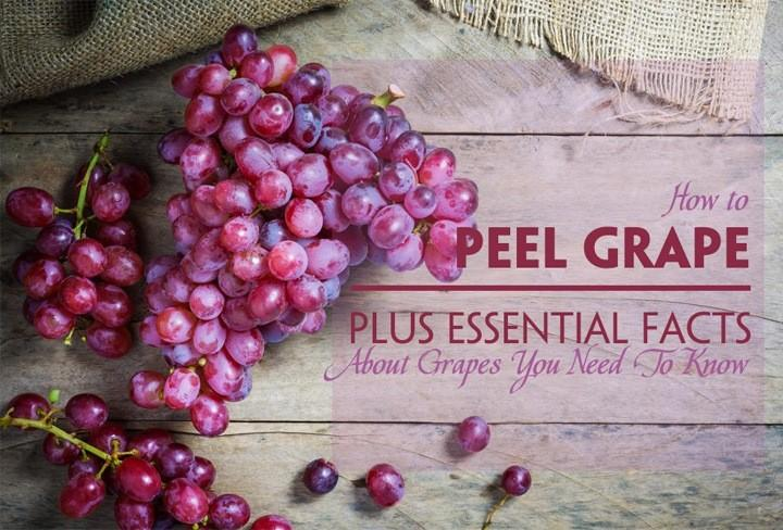 how to peel grapes