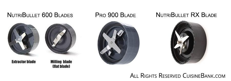 NutriBullet 600 Pro 900 and RX blades compared